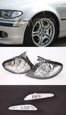 Blinker Set rechts links Seite weiss BMW 3er E46 Limo Touring Facelift