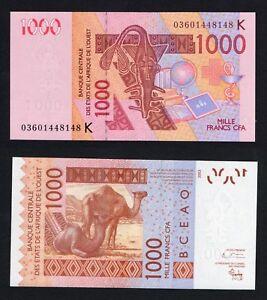 Africa Ovest / Afrique de Ouest - 1000 francs 2003 FDS/UNC  A-07
