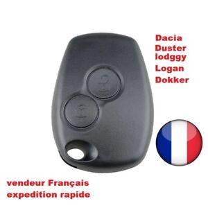 Coque de Cle Plip compatible DACIA Sandero Duster Lodgy Logan Dokker / 2 boutons