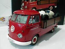 """Schuco ProR 00371 # VW Bus T1b Pritsche """" PORSCHE """" m. Porsche Formel Vau 1:18"""