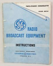 1948 General Electric Two Studio Consolette Model 4BC1A1 - Instructions Wiring