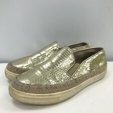 Steve Madden Trainers UK 3.5 Gold Slip On Women's Casual Occasion 301802