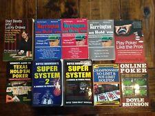 Super System 1 and 2 I II Doyle Brunson Dan Harrington Hold 'Em Complete Lot