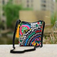 Women Embroidered Clutch Purse Small Messenger Shoulder Crossbody Bag Travel