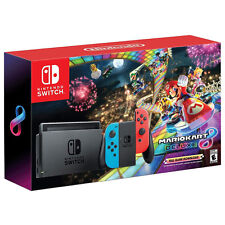Nintendo Switch with Blue and Red Joy-Con Controllers and Mario Kart 8 Bundle - Black