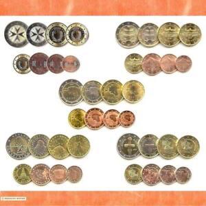 Kursmünzensatz Estland Malta Slowakei Slowenien Zypern Euro•Münze•KMS 1c-2€ Satz