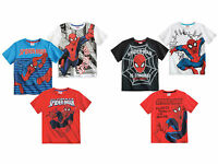 Spiderman T Shirt Top Boys Age 4 5 6 8 10 Years New Official 100% Cotton