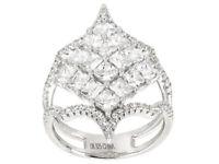 Sz 7 - 5.16ct Bella Luce White Diamond Simulant Sterling Silver Ring