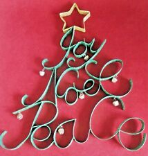 Joy Noel Peace Glitter Christmas Tree Door or Wall Décor 16 inches