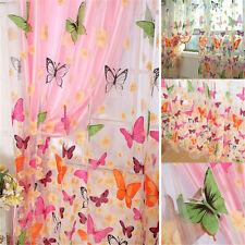 1 stück Floral Schmetterling Vorhänge Sheers Voile Tüll Fenster Vorhang