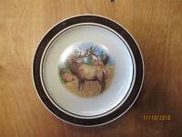 """Cabela's Folkcraft BUGLING ELK Scotty Z Salad Plate 8 1/2"""" 1 ea    7 available"""