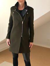 Sandro Paris Mantel schwarz olive-braun Größe 36
