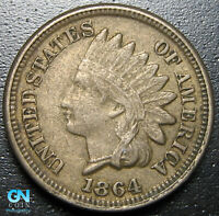1864 COPPER NICKEL Indian Head Cent Penny  --  MAKE US AN OFFER!  #G9852