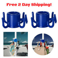 Beach Umbrella Hanging Hook Holder for Towels Bags Hats Sunglasses Patio 2 Pack
