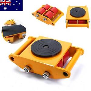 6Ton Dolly Skate Roller Heavy Machine Duty Machinery Mover Cargo Trolley 360°