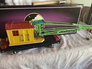 MTH Tinplate Tradions #219 Crane Car standard gauge