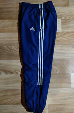 Adidas 90's Vintage Tracksuit Pants Trousers Training Navy Blue Gray Stripes