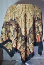 Vintage OSCAR warm square shawl / scarf fashion accessories XL