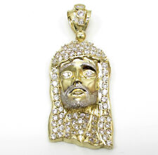 10 Grams Small Mens Ladies 10k Yellow Real Gold Jesus Face Charm Pendant