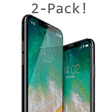 For iPhone X XS Max XR Premium HD Full Coverage Tempered Glass Screen Protector