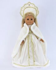 "Doll Clothes AG 18"" Dress White Russian Headpiece For American Girl 18 Inch Doll"
