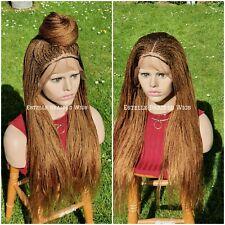 Pre-Order Brown Braided Wig, Frontal Lace Wig  Micro Twist Braids, Million Braid