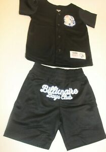 4-5 Years Old Kids  Authentic Billionaire Boy Club Black Short Set On Sale