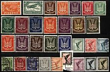 30 GERMANY Deutsche FlugPost Luftpost Airmail Stamps Postage Collection MLH USED