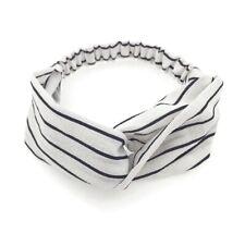 Women Casual Elastic Sports Fabric Striped Cross Headband Hairband Accessories