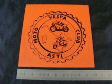 ADESIVO VESPA MOTO CLUB ASTI PER FARO BASSO GS 150 PIAGGIO MADE IN ITALY