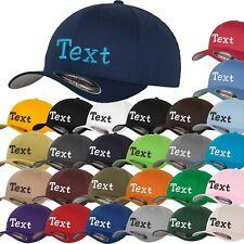 Flexfit® Wooly Combed Basecap Cap bestickt mit Name + Zahl hinten
