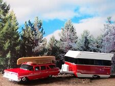 Matchbox 1959 Chevy Station Wagon Alameda Camper 1:64 Scale Diecast Travel Set