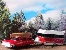 Matchbox 1959 Chevy Station Wagon Alameda Camper 1:64 Scale Diecast Travel Set