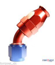AN -8 (AN8) 45 Degree Teflon Fuel Hose Fitting Aeroquip