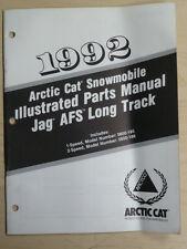 ARCTIC CAT 1992 JAG AFS LONG TRACK MODEL # 0650 185 186 ILLUSTRATED PARTS MANUAL