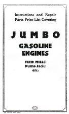 Jumbo Gas Motor Gasoline Engine Book Service Manual Hit Miss Stationary Flywheel
