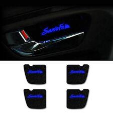 LED Door Inside Catch Plate DIY Kit Blue 4pcs For 2007 2012 Hyundai Santa Fe