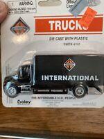 HO SCALE BOLEY INTERNATIONAL DIECAST 4102 Black International Box Truck