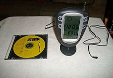 ULTRONIC RADIO / CLOCK / TEMPERATURE / HUMIDITY / MOON PHASE UNIT WITH STAND AND