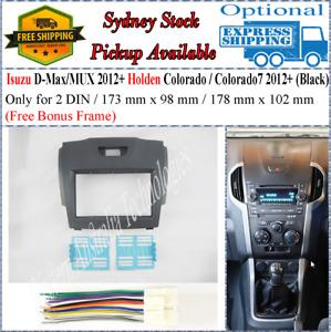 Harness + Fascia facia Fits Holden Colorado 7 2012+ Double Two 2 DIN Dash Kit-