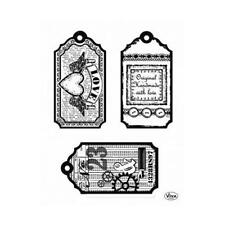 Viva Decor A5 Clear Silicone Stamps Set - Tags Love #121
