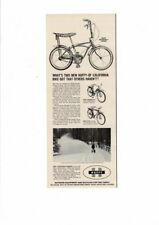 VINTAGE 1965 HUFFY CALIFORNIA DRAGSTER II 3 SPEED MONZA G.T. BICYCLES AD PRINT