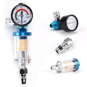 Mini New Air Pressure Regulator Gauge Spray Gun In-Line Water Trap Air Filter