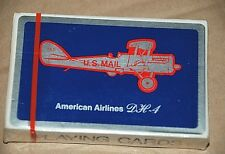 American Airlines DH-4 Playing Cards U.S. Mail 1960's Aviation Sealed Complete