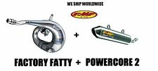 FMF FACTORY FATTY PIPE & POWERCORE 2 SILENCER COMBO FULL EXHAUST 03 04 CR250R
