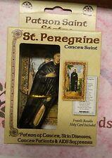 "Saint St. Peregrine (Solid Resin) Statue, 4"" tall"
