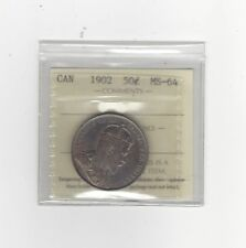 1902, ICCS Graded Canadian 50 Cent, **MS-64**