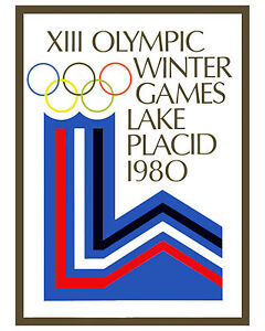 """1980 Lake Placid Winter Olympic Poster - 8""""x10"""" Photo"""