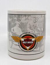 Harley Davidson Motor Cycles 1992 Traveling Museum White Coffee Tea Mug Cup