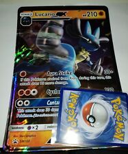 POKEMON LARGE OVERSIZED JUMBO CARD: LUCARIO GX PROMO SM100  ULTRA RARE